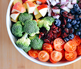 Image of fruits and vegetables in a bowl