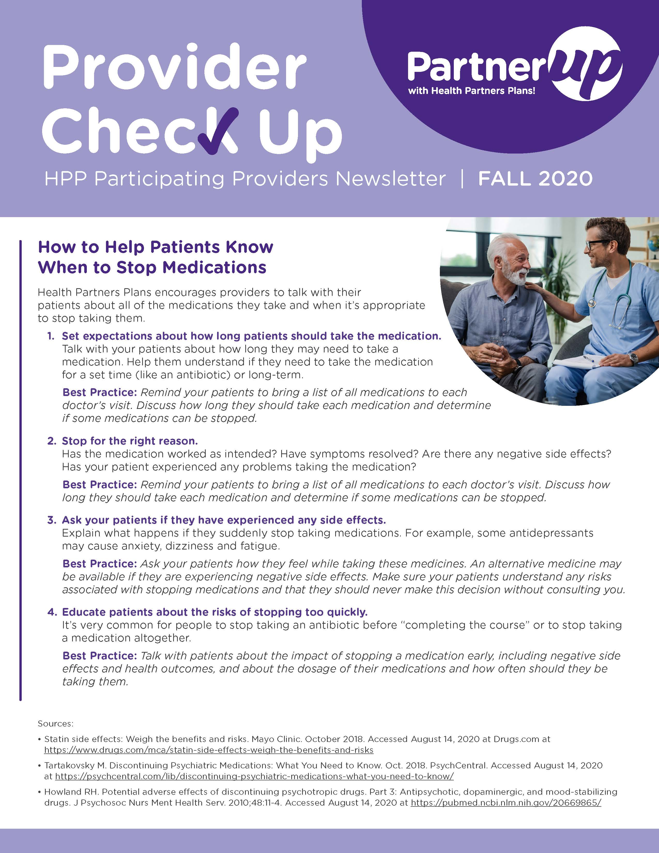 Fall Issue of Provider Newsletter